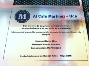 grabado sobre metal cafe martinez