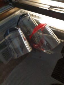 barrera protectora facial plástico